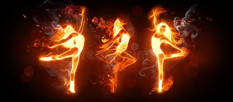 dansa brand royaltyfri illustrationer