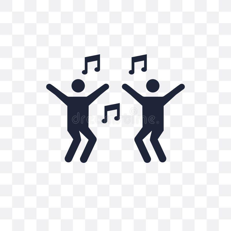 Dansa den genomskinliga symbolen Dansa symboldesign från aktivitet vektor illustrationer