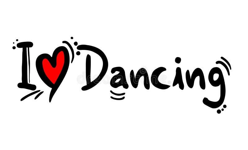 Dansa förälskelsemeddelandet royaltyfri illustrationer