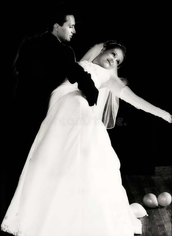 dansa först royaltyfria foton