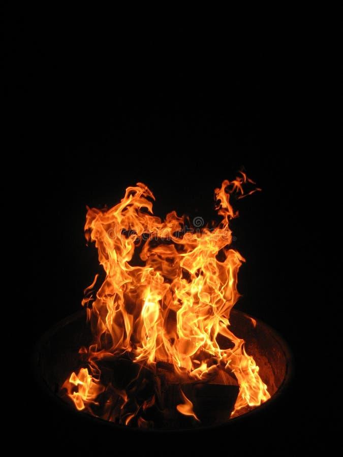 Dansa flammor royaltyfri foto
