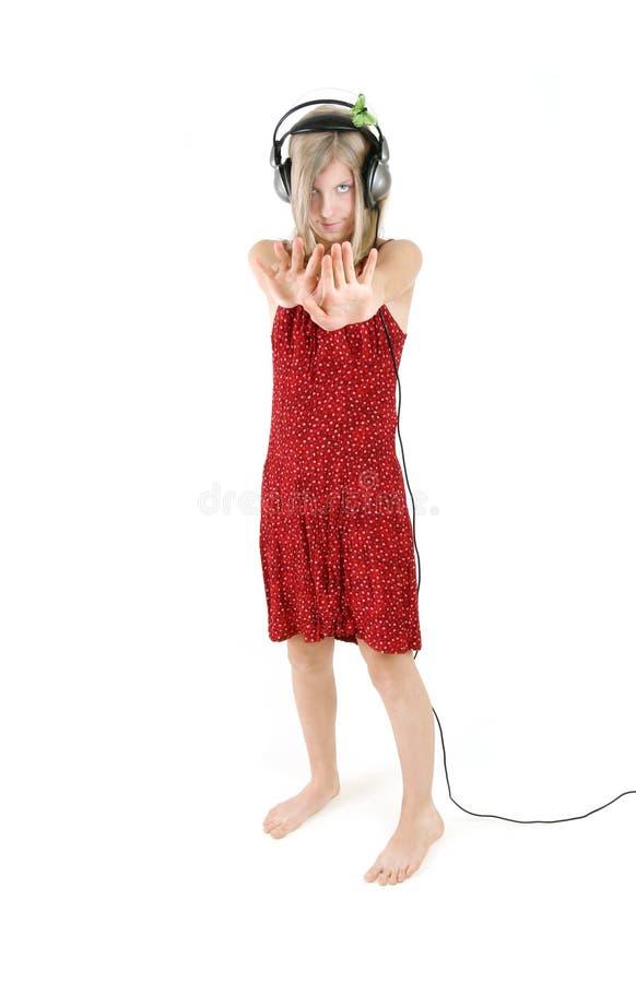 dansa lyssna royaltyfri foto