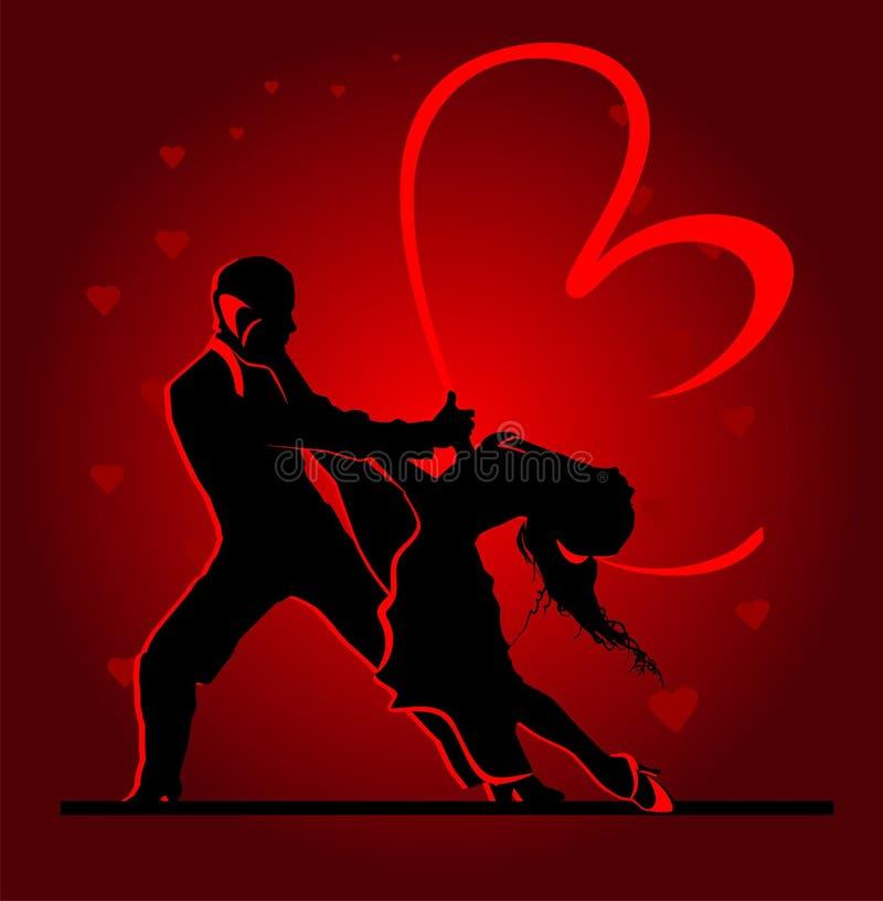 Dansa par royaltyfri illustrationer