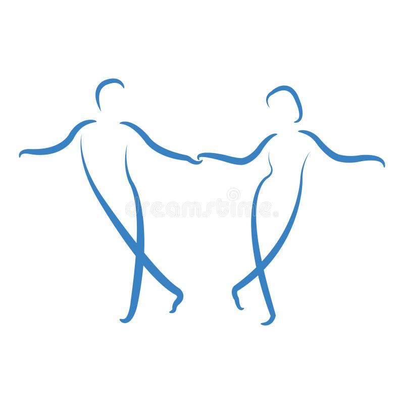 Dansa parlogo royaltyfri illustrationer
