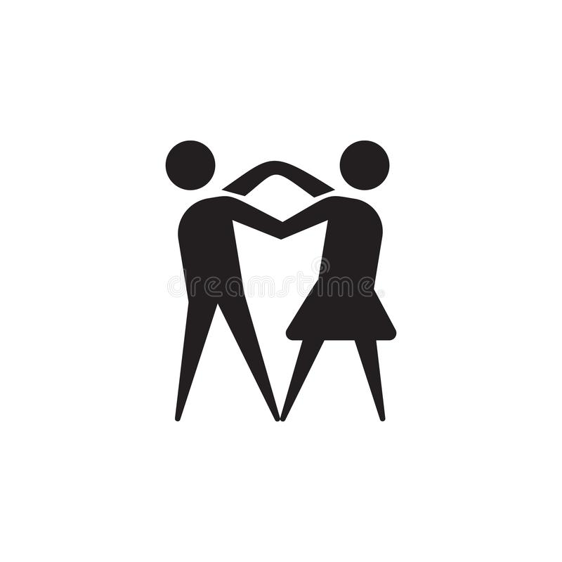 Dansa parsymbolen Dansbeståndsdelar Högvärdig kvalitets- symbol för grafisk design Enkel förälskelsesymbol för websites, rengörin vektor illustrationer