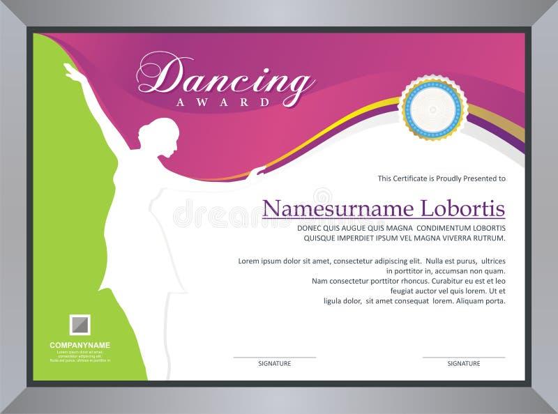 Dansa utmärkelsen royaltyfri illustrationer