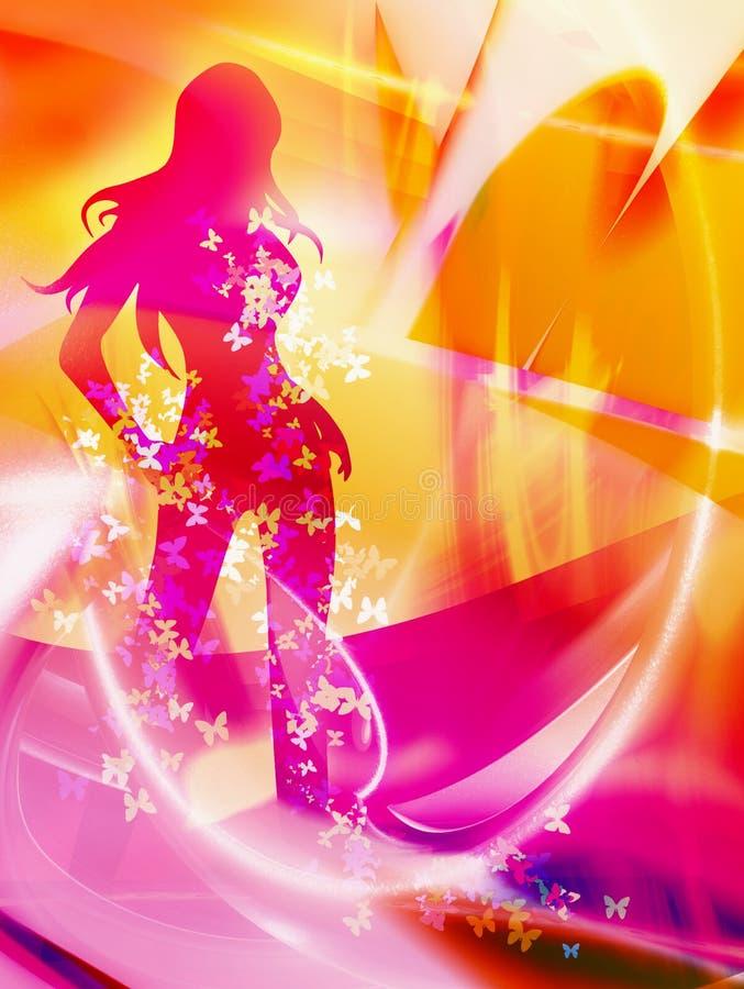 dansa varm kvinna vektor illustrationer