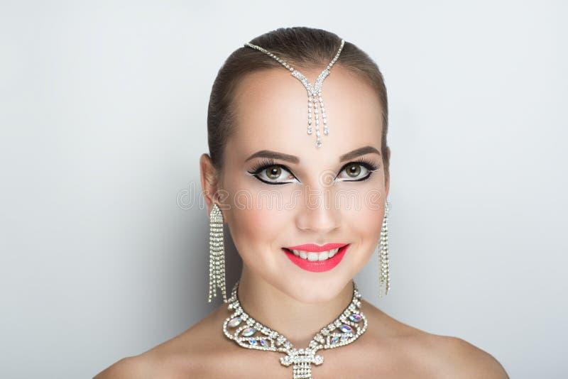 Dansare för kvinnaframsidabalsal arkivbilder