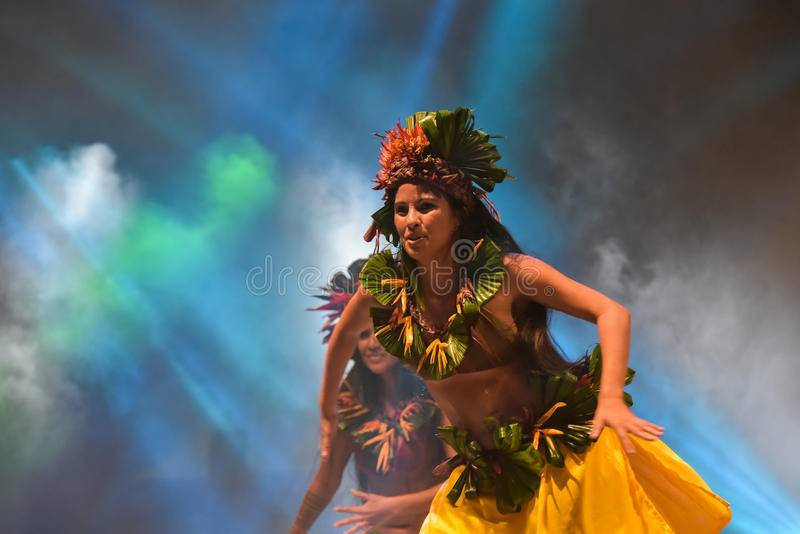 Dansare från Haiti royaltyfria foton