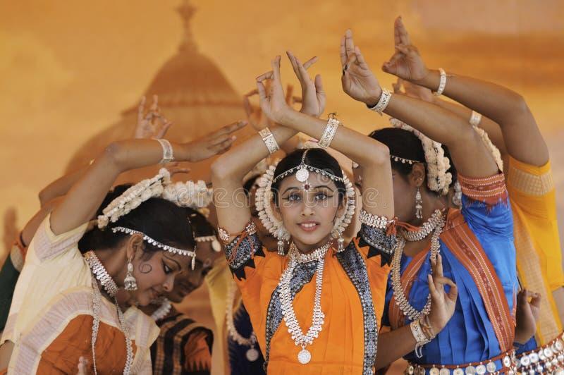 dansare india royaltyfria bilder