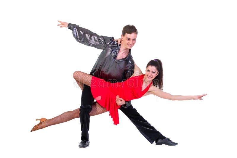dansare isolerad posera white för latino isolerat arkivfoto