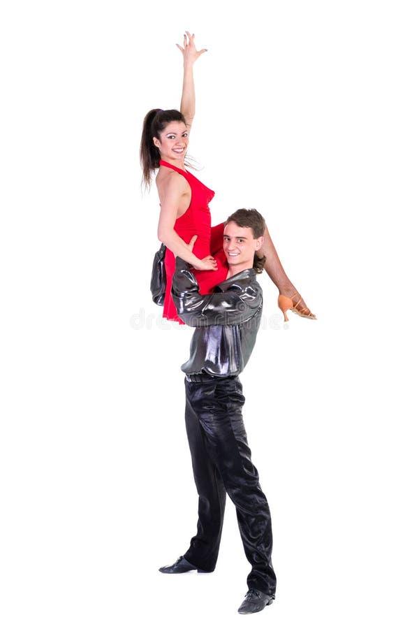 dansare isolerad posera white för latino isolerat arkivbild