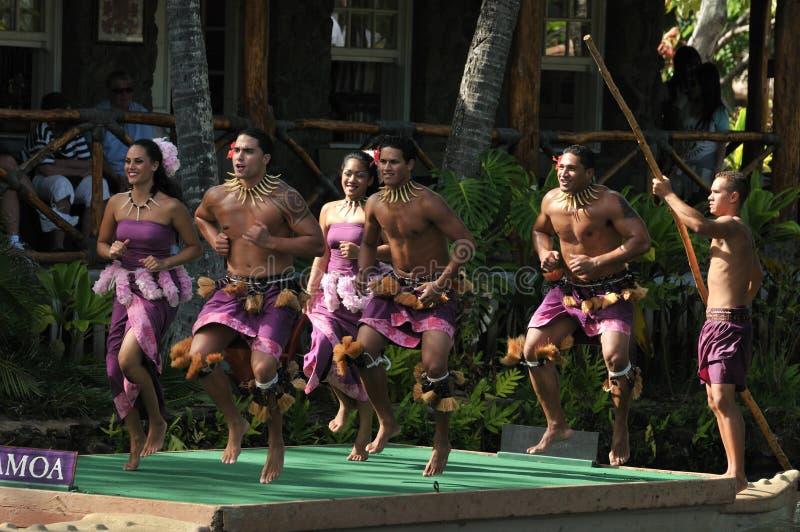 dansare samoa royaltyfria foton