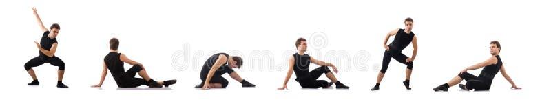 Dansare som isoleras p? den vita bakgrunden royaltyfri bild