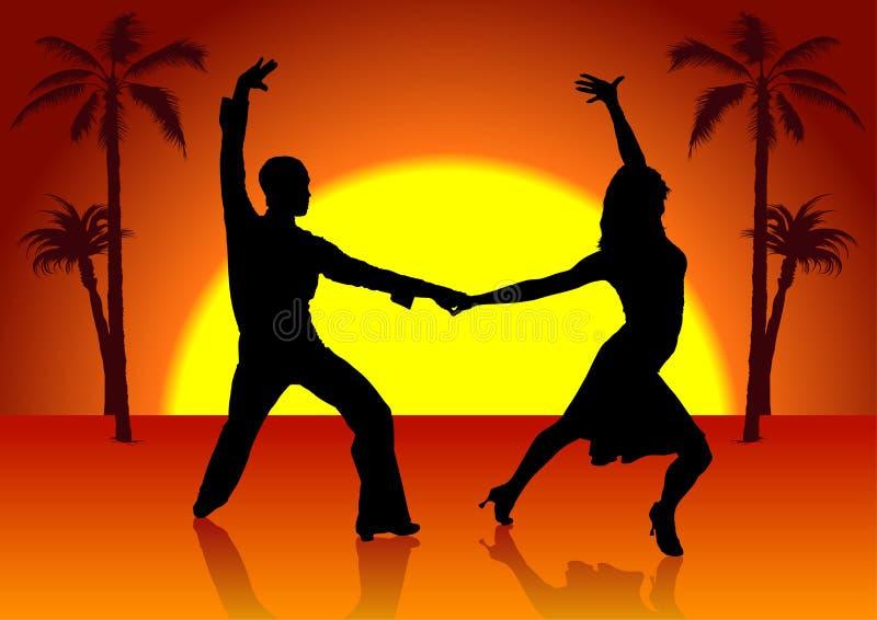dansare spain två stock illustrationer