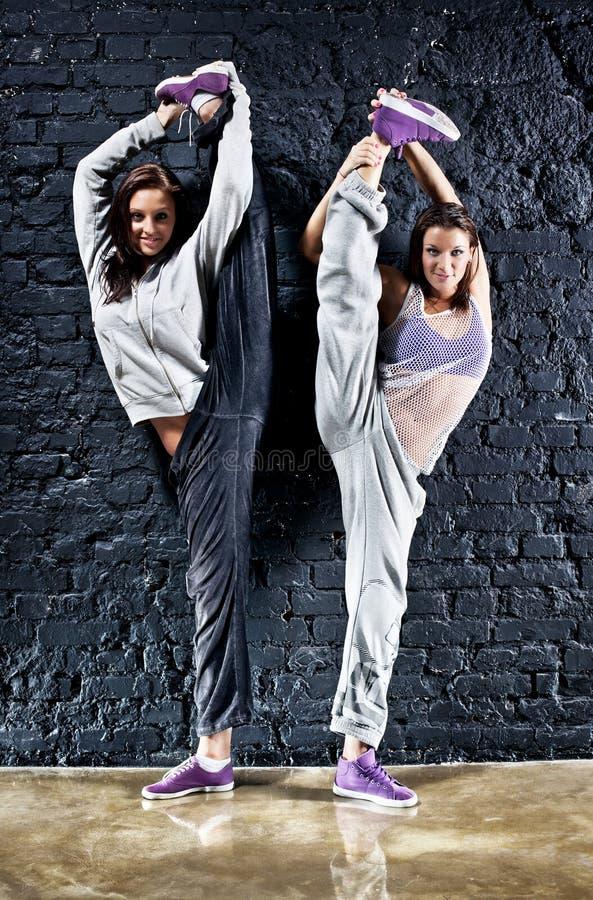 dansare två kvinnor royaltyfri bild