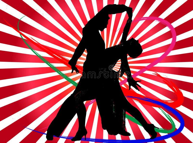 dansarediskoillustration stock illustrationer