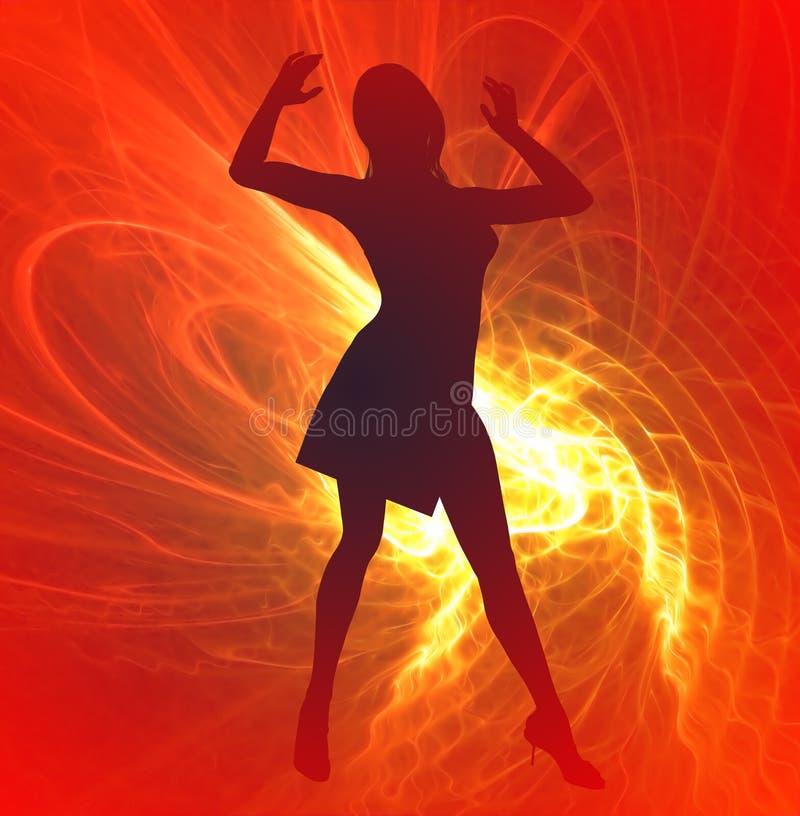 dansareförebildstjärna vektor illustrationer