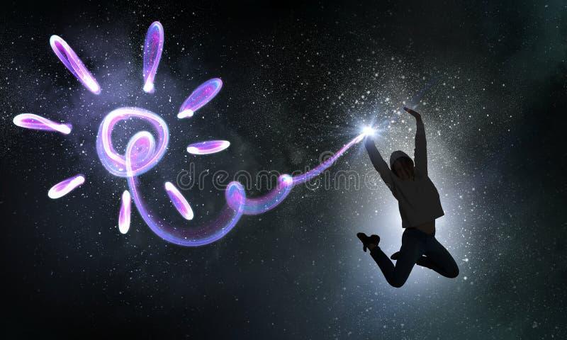 Dansareflicka i hopp arkivfoto