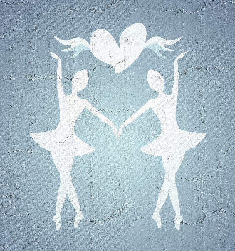 Dansareflickasymbol vektor illustrationer