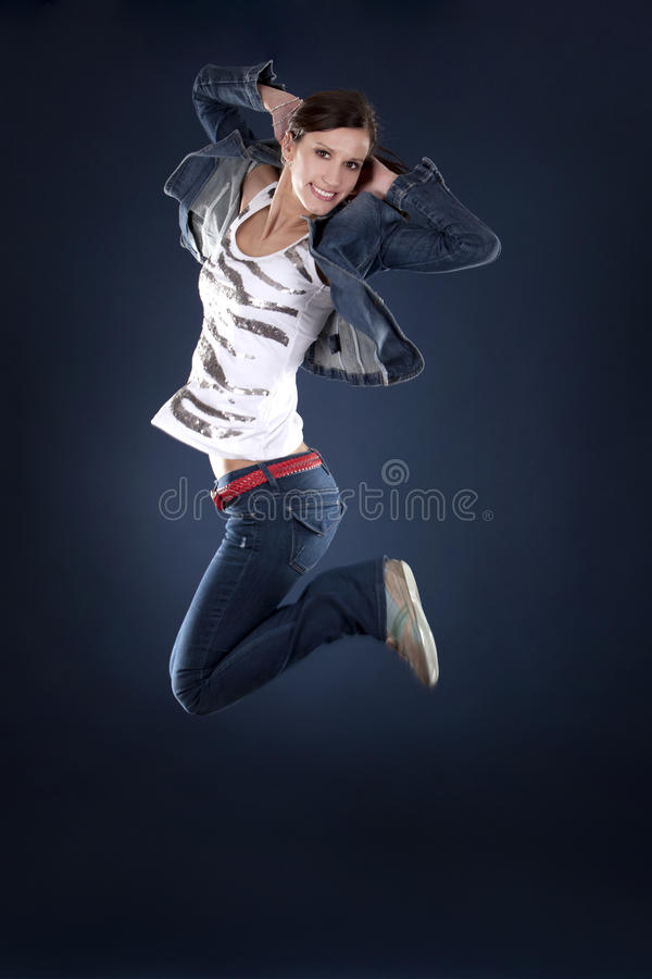 dansarehopp arkivfoton