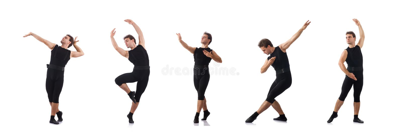 Dansaren som isoleras p? den vita bakgrunden royaltyfria bilder