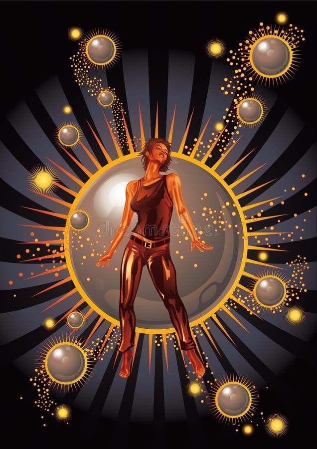 dansarestjärna stock illustrationer