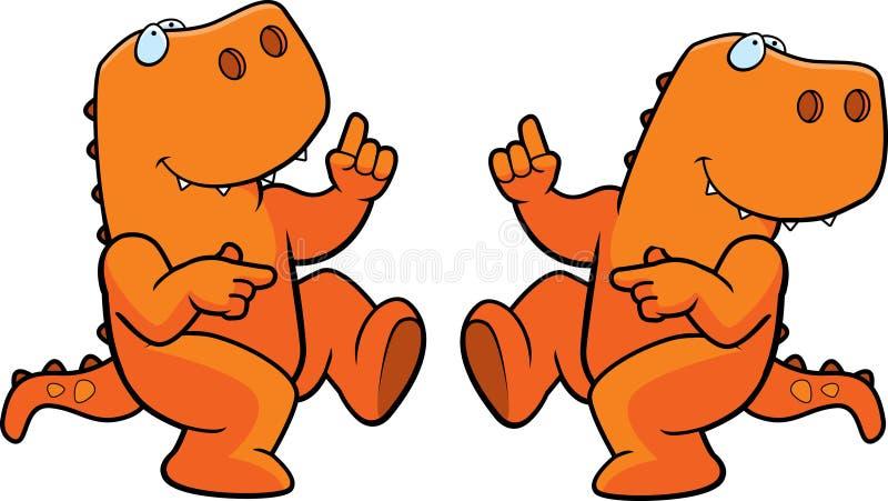 dansdinosaur stock illustrationer