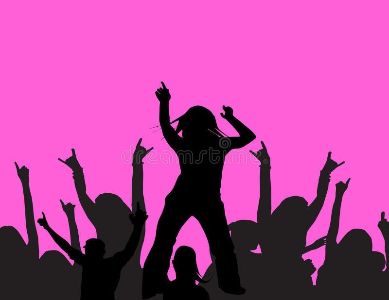 Danse à une réception illustration stock