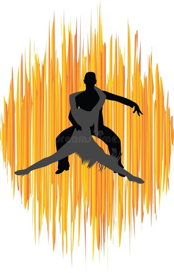 danse illustration de vecteur