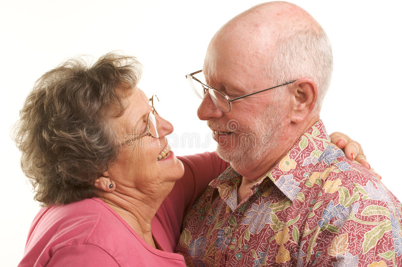 Danse aînée heureuse de couples photo stock