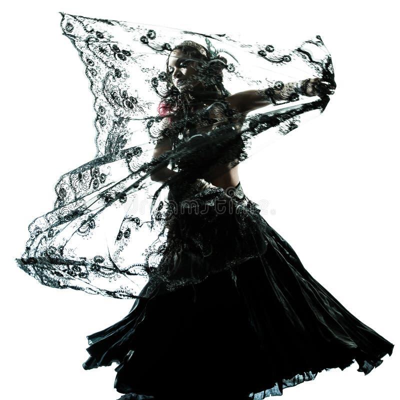 Danse arabe de danseur de ventre de femme photographie stock libre de droits
