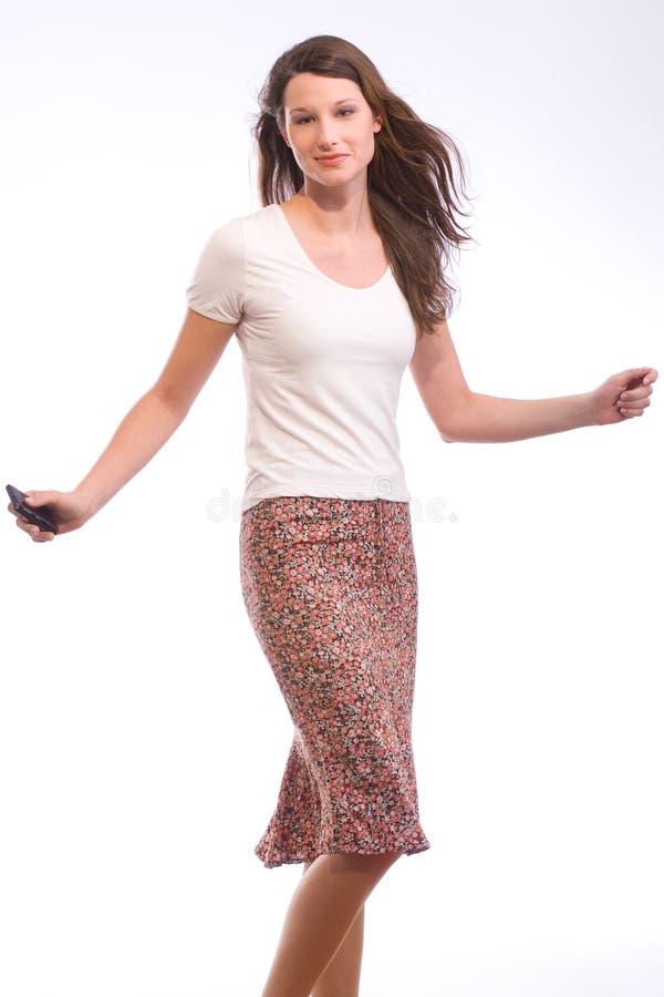 Danse avec le téléphone image libre de droits