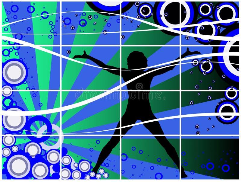 Danse avec moi illustration stock