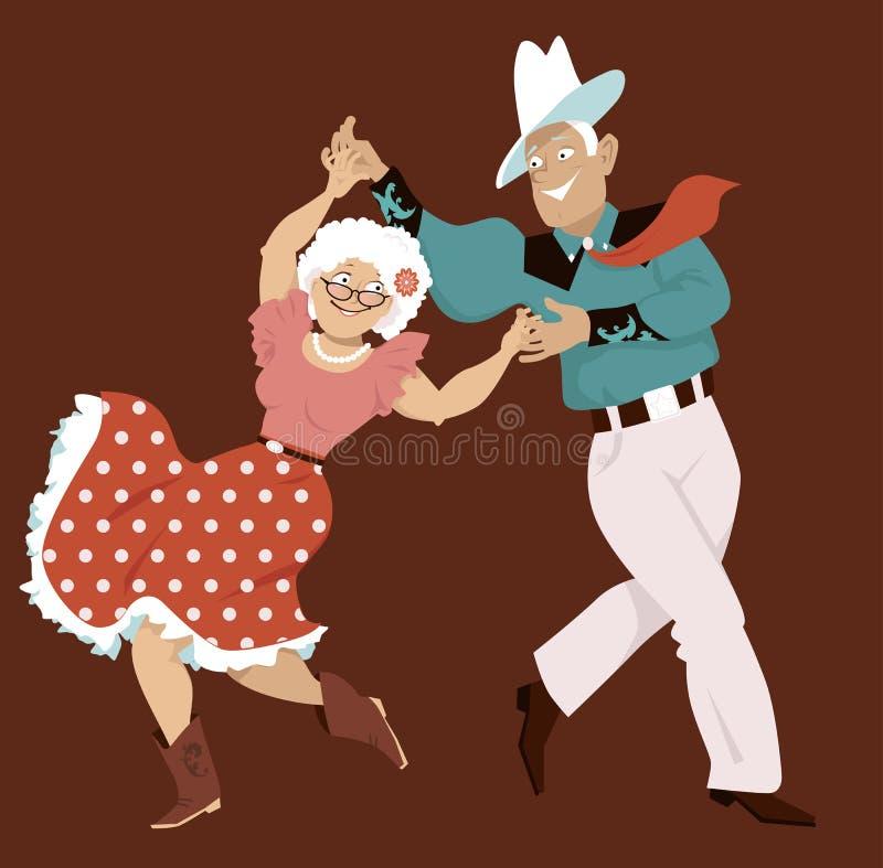Danse carrée illustration stock
