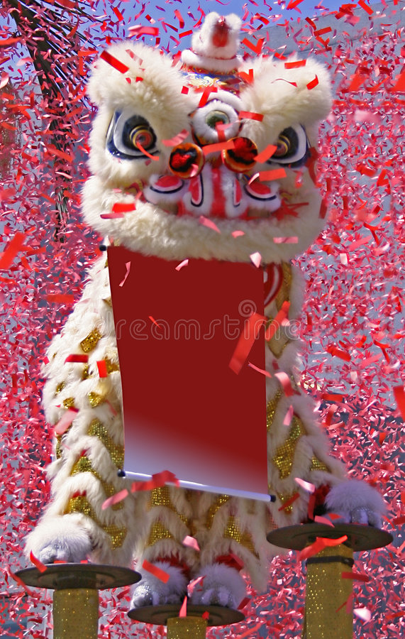 Danse chinoise de lion image libre de droits