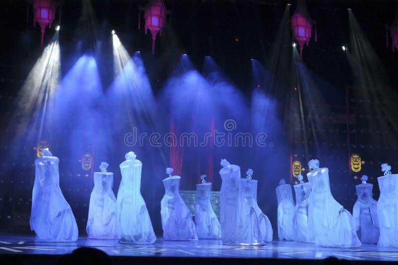 Danse classique chinoise, rendement d'étape photographie stock