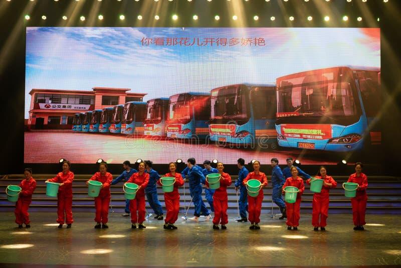 Danse conducteur-moderne d'autobus photographie stock libre de droits