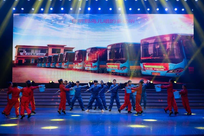 Danse conducteur-moderne d'autobus image stock