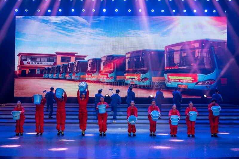 Danse conducteur-moderne d'autobus photos stock