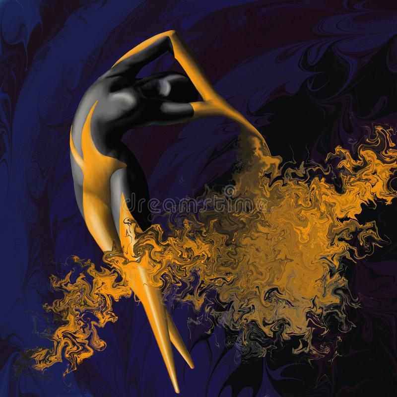 Download Danse Contemporaine D'un Danseur Handicapé Illustration Stock - Illustration du tête, athlète: 87700390