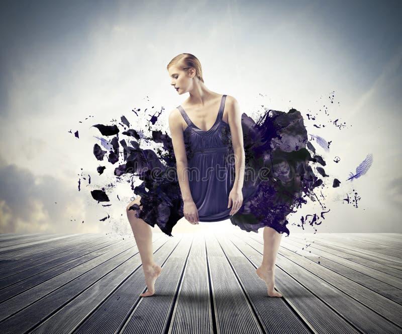 Danse créatrice image libre de droits