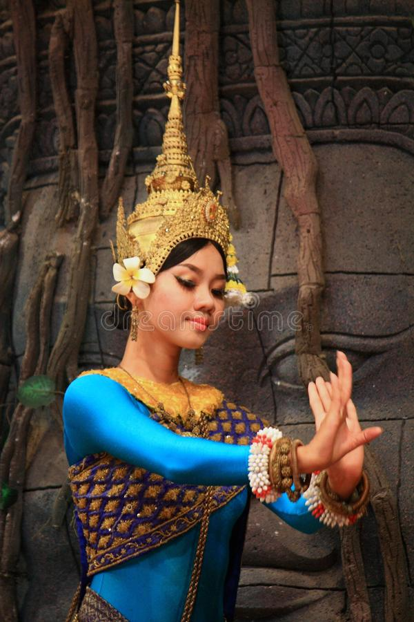 Danse d'Apsaras images stock