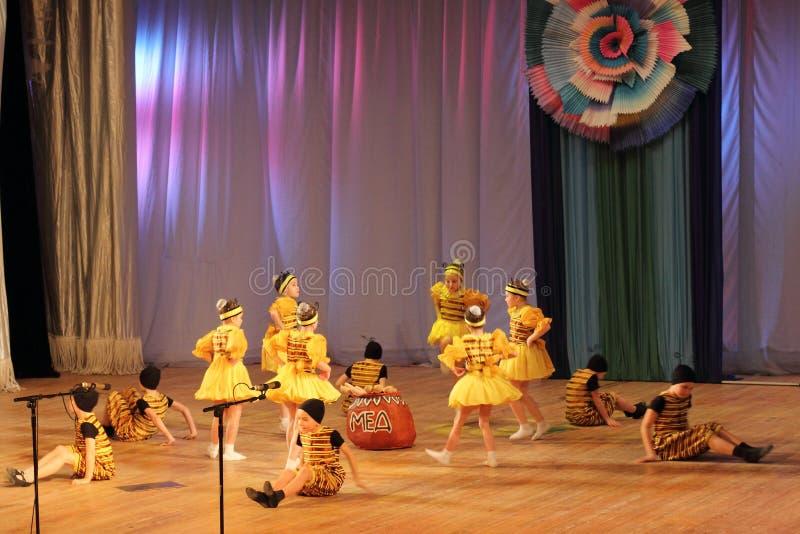 Danse d'enfants image libre de droits