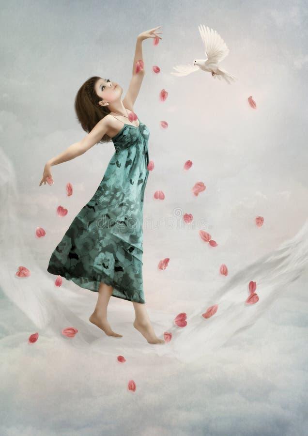 Danse dans les nuages image libre de droits