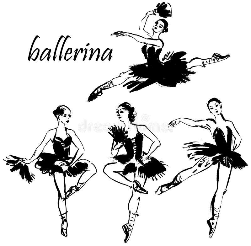 Danse de ballerine illustration de vecteur