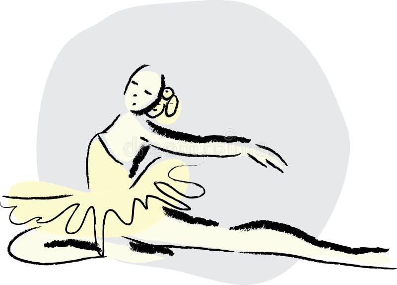 Danse de ballet illustration de vecteur