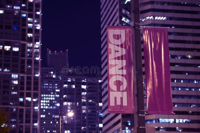 Danse de bannières de Polonais image libre de droits