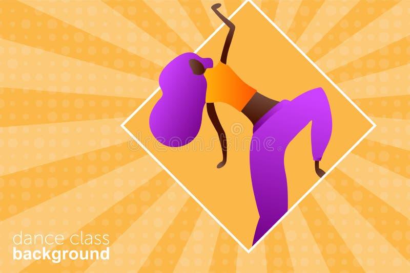 Danse de caract?re de femme dans un style plat moderne illustration stock