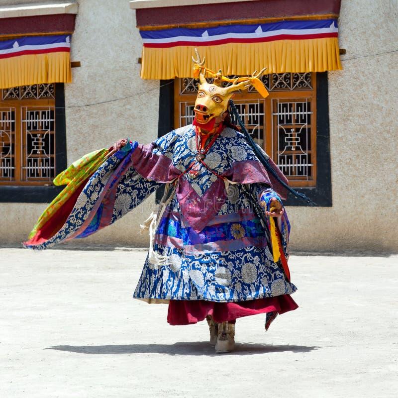 Danse de Cham dans Lamayuru Gompa dans Ladakh, Inde du nord image stock
